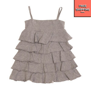 FRUGOO Tiered Dress Size 3M Melange Effect Ruffle Trim Made in Italy