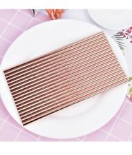 30Pcs Rose Gold Paper Drinking Straws for Birthday Wedding Party Drink Tool CPUK
