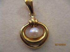 bijoux or 18 carats pendentif or perle