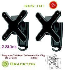 2 pièces brackton Support mural TV r25-101 13-27 pouces LED LCD PLASMA VESA 100