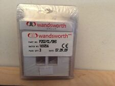 Wandsworth P202 CL SN3 2 Gang Switch Modular Plate - White pack of 3