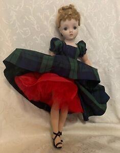 Taffeta dress, belt & can-can slip for Madame Alexander Cissy
