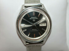Vintage SEIKO Sportsmatic 5 Deluxe 25j Mens Automatic Watch 7619-7010 Black Dial