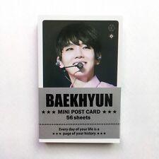 "[EXO] BAEKHYUN Solo Photo Message Cards 56pcs K-POP 3.39"" x 2.17"""