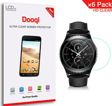 6X Dooqi HD Clear LCD Screen Protector Shield Cover For Samsung Gear S2 Classic