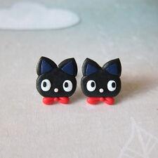 FIMO NERO Jiji CAT Ragazze figlie EMO catlovers REGALI Costume Orecchini Emo