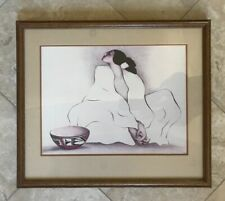 R C GORMAN ZIA PRINT, MATTED AND FRAMED