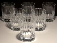 """6 BACCARAT CRYSTAL HARMONIE DOUBLE OLD FASHIONED TUMBLERS  4 1/8""""  MINT 12.2 oz."""