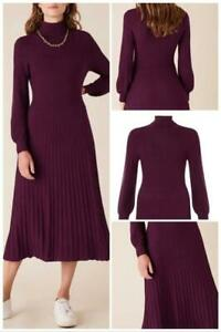 Monsoon - Roll Neck Knit Dress - Red (BERRY) - Size 12 or 14(Brand New With Tag)
