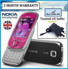NUOVA condizione Nokia 7230 Rosa Classico GSM Sbloccato 3g tre SLIDE TELEFONO CELLULARE