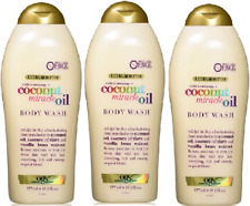 OGX Extra Creamy +Coconut Miracle Oil Ultra Moisture Body Wash,19.5 Oz ( 3 Pack)