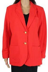 Lauren by Ralph Lauren Women's Blazer Red Size Large L Notch Collar $175 #169