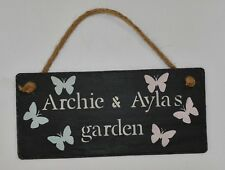 Personalised Slate Sign Garden Sign Wendy House Tree House Kids Den Sign Plaque