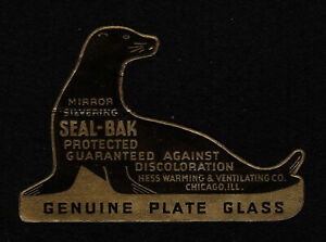 OPC Vintage Seal-Bak Mirror Silvering Die Cut Seal fold fault