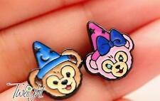 Disney party hat bears  metal earring ear stud earrings 2PCS earring ne