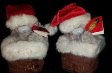 "Set OF2 Me to You Tatty Teddy Bear 3"" nella canna fumaria Natale Babbo Natale peluche orso regalo"
