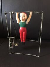Vintage 1930s Marx Gymnast Acrobat Beam Bar Celluloid TOY Wind-Up RARE- Works!!!