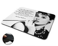 Audrey Hepburn Premium Quality Flexible Rubber Mouse Mat / Mouse Pad -001-