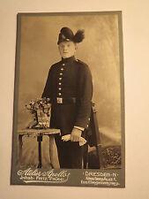 Dresden - stehender Soldat - Jäger in Uniform - Regiment Nr. 13 /CDV