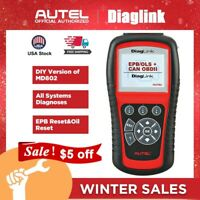 AUTEL Automotive Code Reader OBD2 Diagnostic Scan Tool ABS Oil Reset All Systems