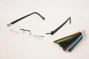 BULOVA Vindennis eyeglasses Frame Navy 53mm RIMLESS Interchangeable Temples