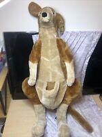 """Melissa and Doug Australian Kangaroo NO BABY Plush Stuffed Animal 35"""" Lifelike"""