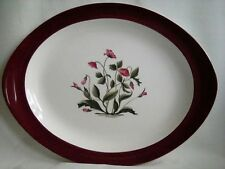 Immaculate Vintage Wedgwood Platter Oval Plate MAYFIELD  Ruby 13in - 33cm