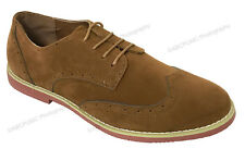 Men's Dress Shoes Wing Tip Classic Lace up Fashion Oxfords Casual Colors Sizes Tan 8