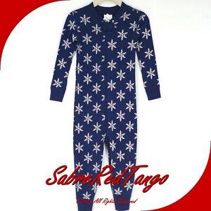 NWT HANNA ANDERSSON ORGANIC BABY SLEEPER ZIPPER SNOWFLAKE BLUE PRINT 85 2T 2