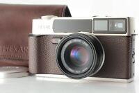 【MINT】 Konica Hexar AF Rhodium Rangefinder 35mm Camera + Leather Case From JAPAN