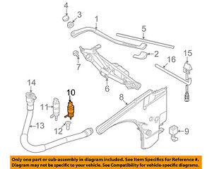 BMW OEM 07-15 328i Windshield Window Wiper-Front Washer Pump 67127302589
