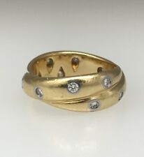 MUST SELL Tiffany & Co. Etoile Twist Diamond Gold Platinum Band Ring Sz 5.5