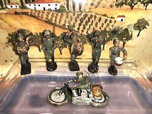 Soldaten Figuren WK2 * 6x LINEOL / ELASTOLIN Germany * 2.Wahl Konvolut ***