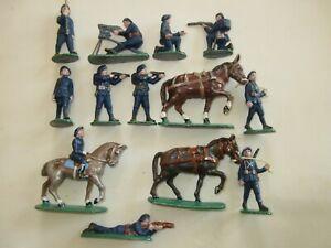 QUIRALU Lot de 11 CHASSEURS ALPINS  ( 3 chevaux)