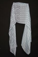 Baby Blue Zebra 'Animal & Pattern' Print Sheer Colourful Funky Scarf (S97)