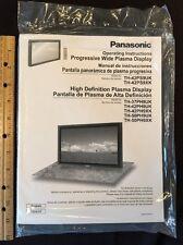 Panasonic PLASMA TV Original Owners Manual Operating Book Sealed bag THICK BOOK