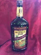NEW Bling Electric LAMP 750ml MYERS'S Rum Empty LIQUOR BOTTLE Green LEDs