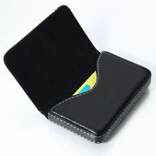 Womens business card case in business card holders for sale ebay black pocket leather wallet luxury men women business name card holder case bag colourmoves