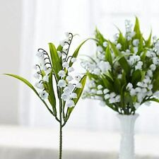 Factory Direct Craft Dainty Artificial White Lily of The Valley Floral Picks