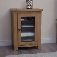 Original rustic solid oak furniture hi-fi stereo cabinet cupboard unit