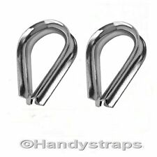 2 x 12mm Wire Rope Thimbles for 12mm wire  Marine Stainless Steel