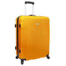 "Travelers Choice Rome 29"" Orange Lightweight Spinner Luggage Travel Bag TSA Lock"