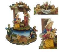 GIOSTRA CARILLON MECCANICO Cm.15H con PRESEPE NATALE ANGELI e MAGI ROTANTE 1701