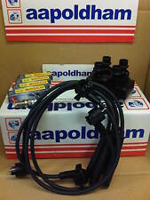 FORD FIESTA ESCORT 1.4 1.6 CVH 1989-93 IGNITION COIL PACK HT LEADS & SPARK PLUGS