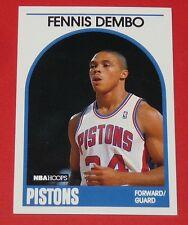 # 72 FENNIS DEMBO DETROIT PISTONS 1989 NBA HOOPS BASKETBALL CARD
