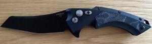 "Hogue X5 Button-Lock Flipper 4"" Black CPM-154 Modified Wharncliffe Blade"