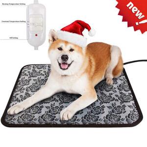 Electric Heating Mat Blanket Pet Heated Cat Dog Heater Pad Bed Winter Waterproof