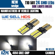 2x T10 W5W 501 24 SMD Canbus LED Bulbs 4014 Bright White Car Lights 12V 6500K