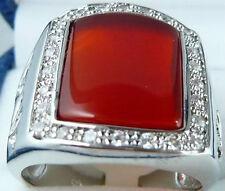 Fashion Jewelry red jade Gemstone men's ring size:8-11  AAA Grade