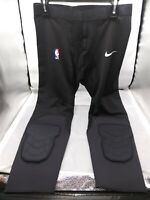 Nike NBA Pro Hyperstrong Padded Tights Pants 3/4 Player Issued Black Sz 2XL